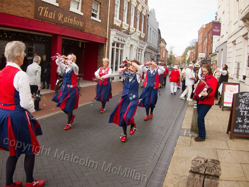 dancing in the streets of Lichfield