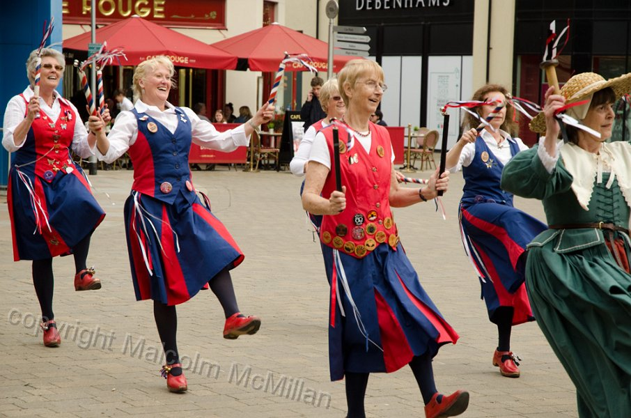 Dancing in Marriots Walk Shopping Centre Witney