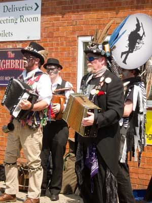 mixed morris band including euphonium